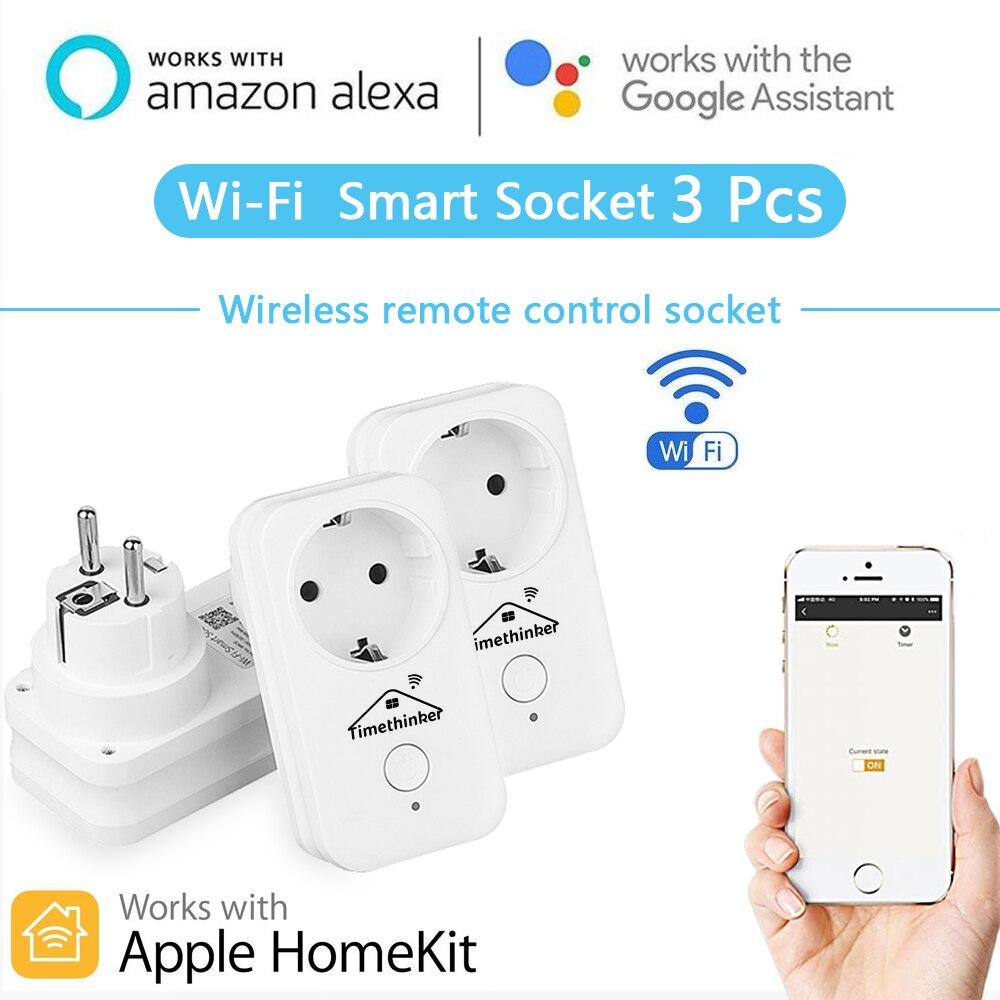 Smart Home WiFi Switch Smart Socket Plug Outlet For Apple Homekit Siri Alexa Google Home APP
