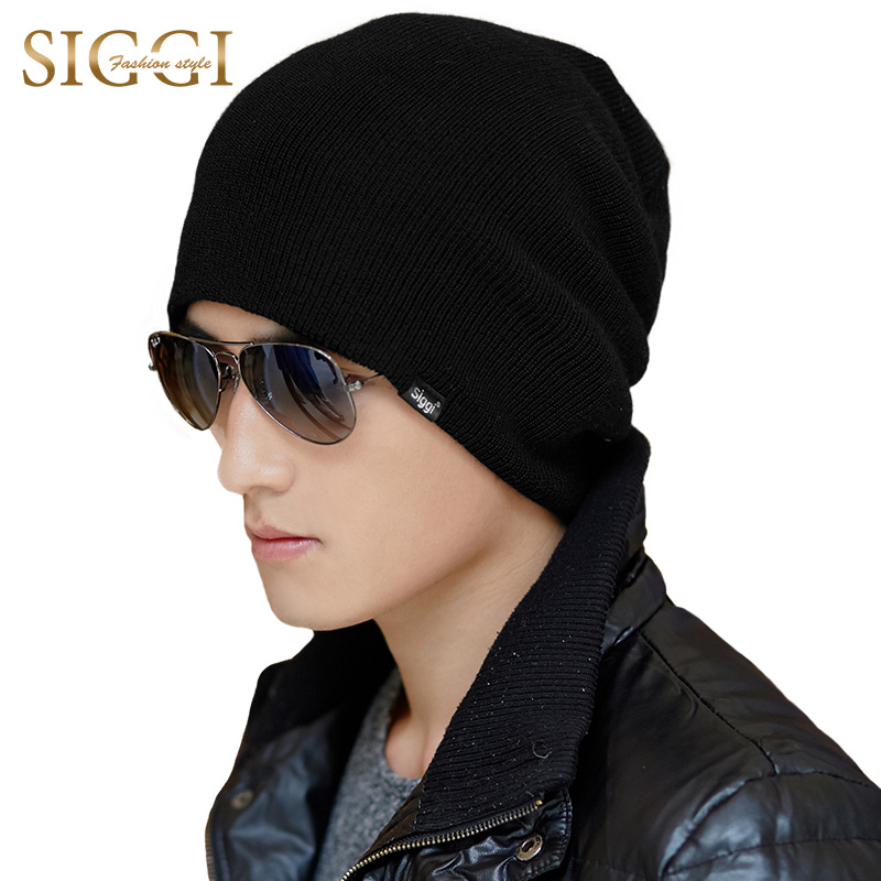 SIGGI Knitted beanies winter wool hat men skullies bonnet chapeau cap autumn gorros warm casual 67190 femme skullies autumn beanies winter warm chapeau women hat female knitted cap ladies bonnet
