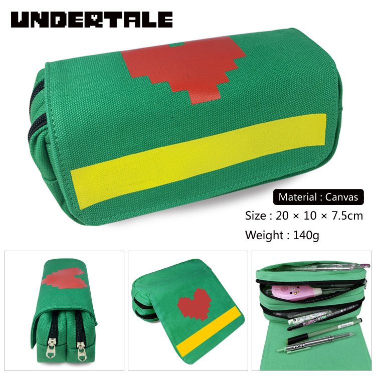 Anime Undertale Pencil Case Multifunction School Pencil Pouches Boys Girls Pencil Box School Supplies Kids Purse Wallet Gifts