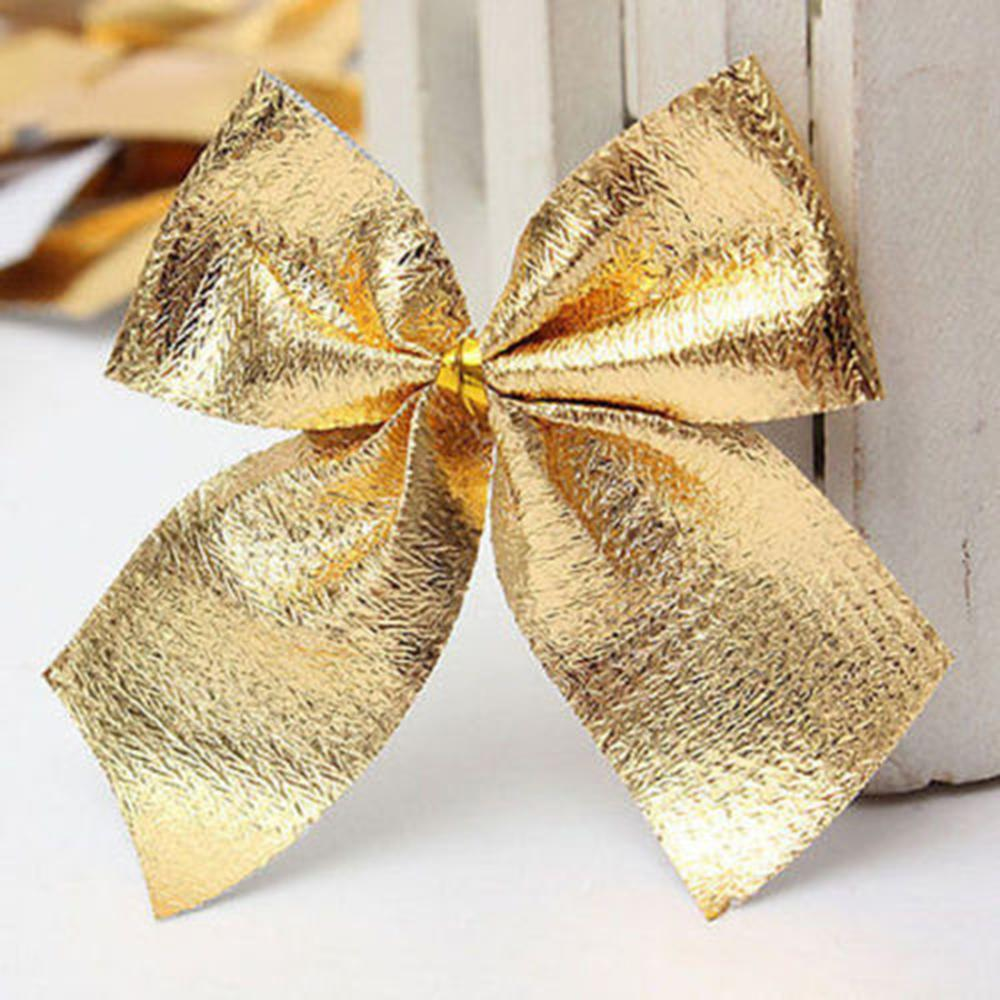 6pcs christmas tree bow decoration baubles christmas new. Black Bedroom Furniture Sets. Home Design Ideas