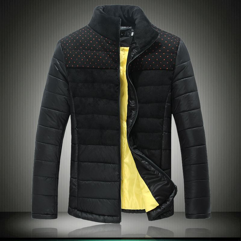 Aliexpress.com : Buy New Winter Jackets Men Patchwork Polka Dot