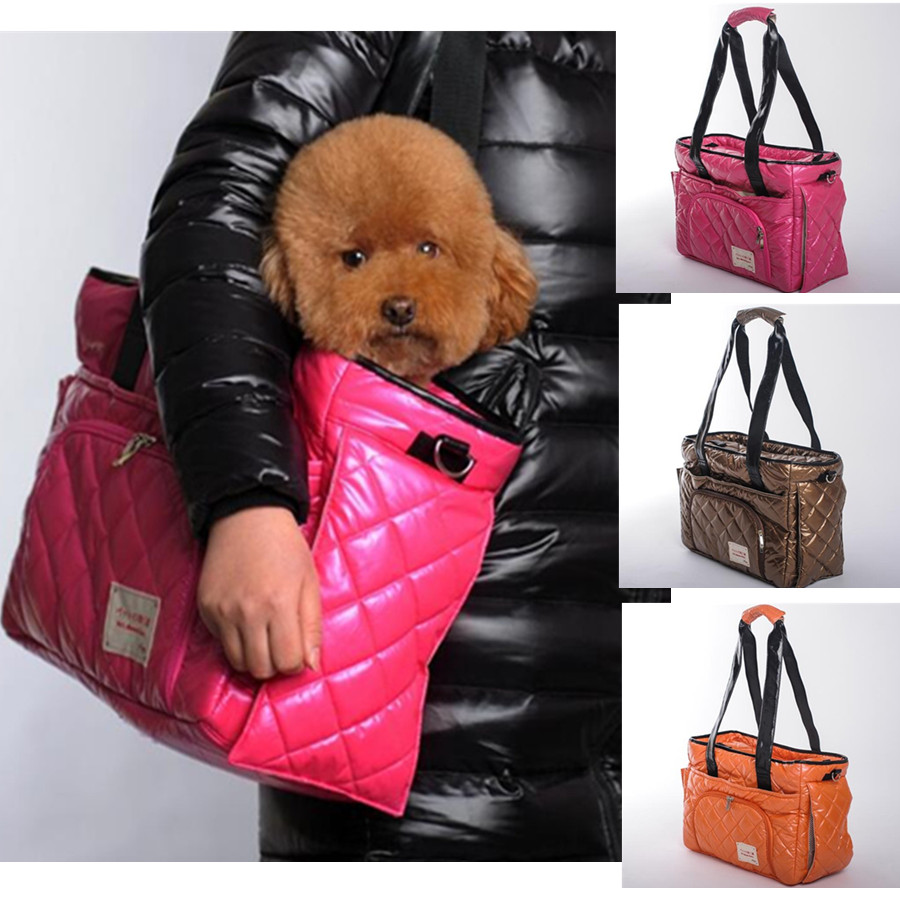 Portable Pet Carrier Bag For Carrying Dog Cat Small Animals Travel Carry Hand Bag Nylon Dog Slings Pink Orange Brown
