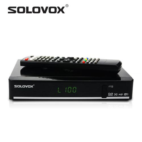 Prix pour Sortie d'usine 1 pcs SOLOVOX F7S Satellite Récepteur carte partage Soutien 2USB WEB TV USB Wifi 3G Biss Clés Youporn Cccam