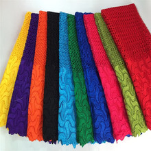 African quality multi color cord lace guipure