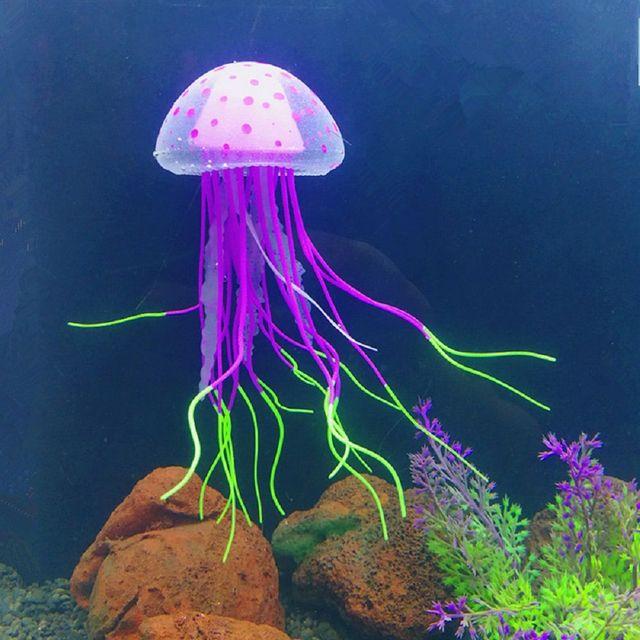 Imitation Floating Jellyfish Aquarium Deco  3