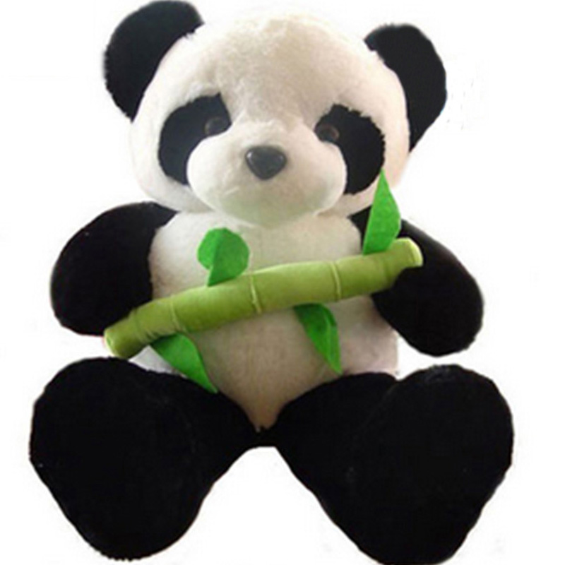 Fancytrader Big Fat Panda Plush Toy Giant Soft Stuffed Panda Holding Bamboo Dolls 39inch for Children Gift fancytrader 79 lovely super soft giant stuffed jumbo dolphin plush toy 200cm 2 colors 2 sizes free shipping ft50142