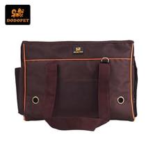 DODOPET Quality Sturdy Pet Carrier Bag Dog Travel Bag for Small Dogs/Cat Casual Oxford Designer Puppy Shoulder Bag Black S M L