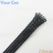 1 м обшивка Авто Провода использование нейлон плетеный кабель трубки 10 мм черный