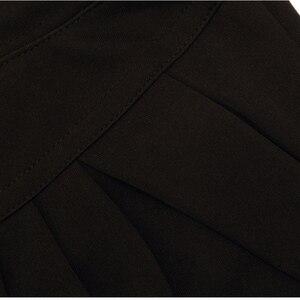 Image 5 - NORMOV موضة النساء سراويلي حريمي منتصف الخصر الصيف حجم كبير السراويل الكلاسيكية فضفاضة الإناث مطوي الصلبة السراويل السوداء الإناث