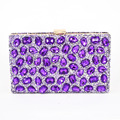 Fashion Purple Crystal Glass Clutch Bag Women Diamond Evening Bag Sparkly Bling Handbag Wedding Party Clutches banquet bag 812