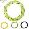 Плетеная плетеная леска для рыбалки Tenkara  зеленая  золотистая  черная  желтая