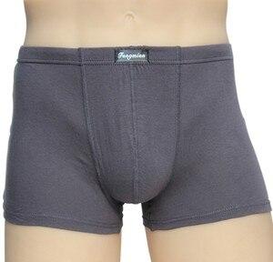 Image 5 - 5 ピース/ロット大緩い男性綿下着ボクサーショーツハイウエストパンティー通気性脂肪ベルトビッグヤード男性のプラスサイズ
