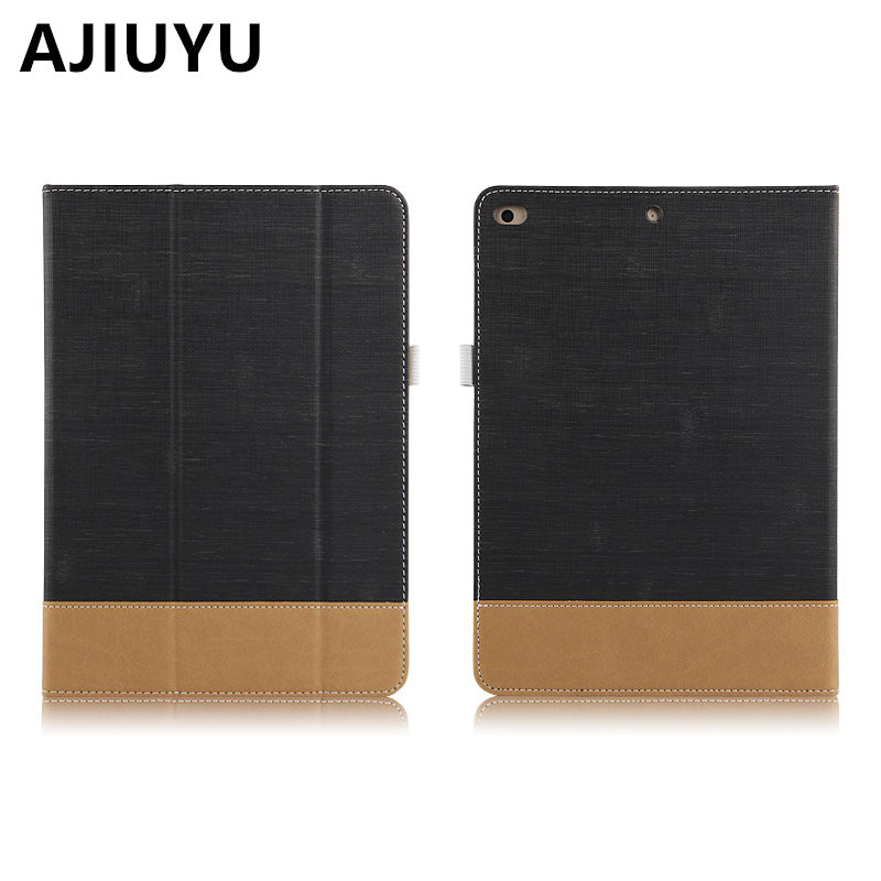 AJIUYU Case For iPad 9.7 inch New 2017 Protective Smart cover Protector Leather PU Tablet For Apple iPad9.7 A1822 A1823 Cases back shell for new ipad 9 7 2017 genuine leather cover case for new ipad 9 7 inch a1822 a1823 ultra thin slim case protector