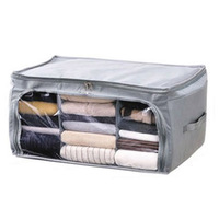 High Quality Large Pragmatic 62L Foldable Bamboo Charcoal Non Woven Cloth Fibre Home Storage Bag Container