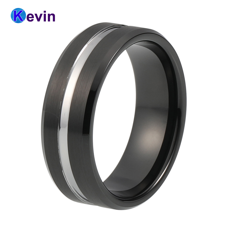 Cool black two tone tungsten wedding ring for men with groove and bevel  finishCool Mens Wedding Rings Promotion Shop for Promotional Cool Mens  . Cool Mens Wedding Rings. Home Design Ideas