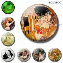 Kissed Lover 30 MM Magnet Fridge Notes Glass Luminous Refrigerator Magnets Magnetic Stickers for Valentines Gift