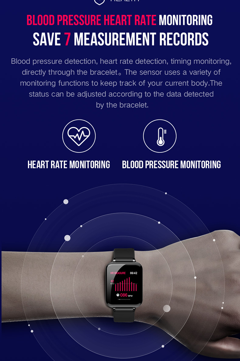 Waterproof Smart Watch With Bluetooth For Men/Women