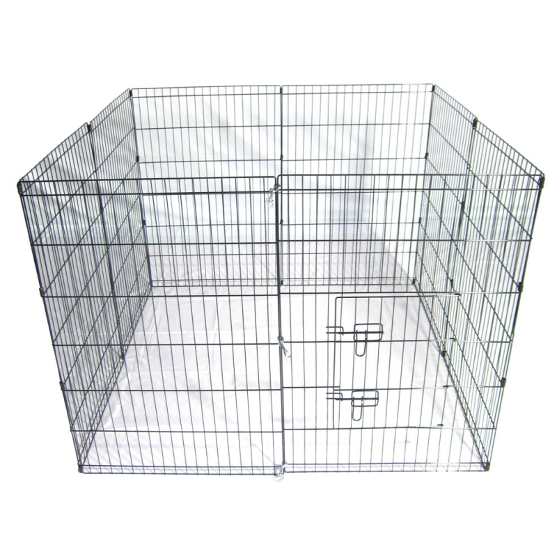 36-Tall-Wire-Fence-Pet-Dog-Cat-Folding-Exercise-Yard-8-Panel-Metal-Play-Pen-Black_10_800x800