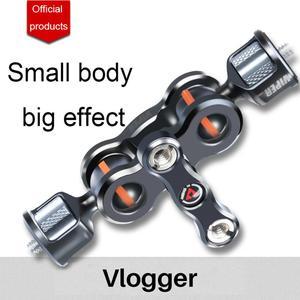 Image 2 - Vlogger Viper Articulating Magic Cánh Tay Ballhead Giá Đỡ Gắn Đế Đứng Dành Cho Máy Micro DSLR Camera Phụ Kiện Kẹp Bướm