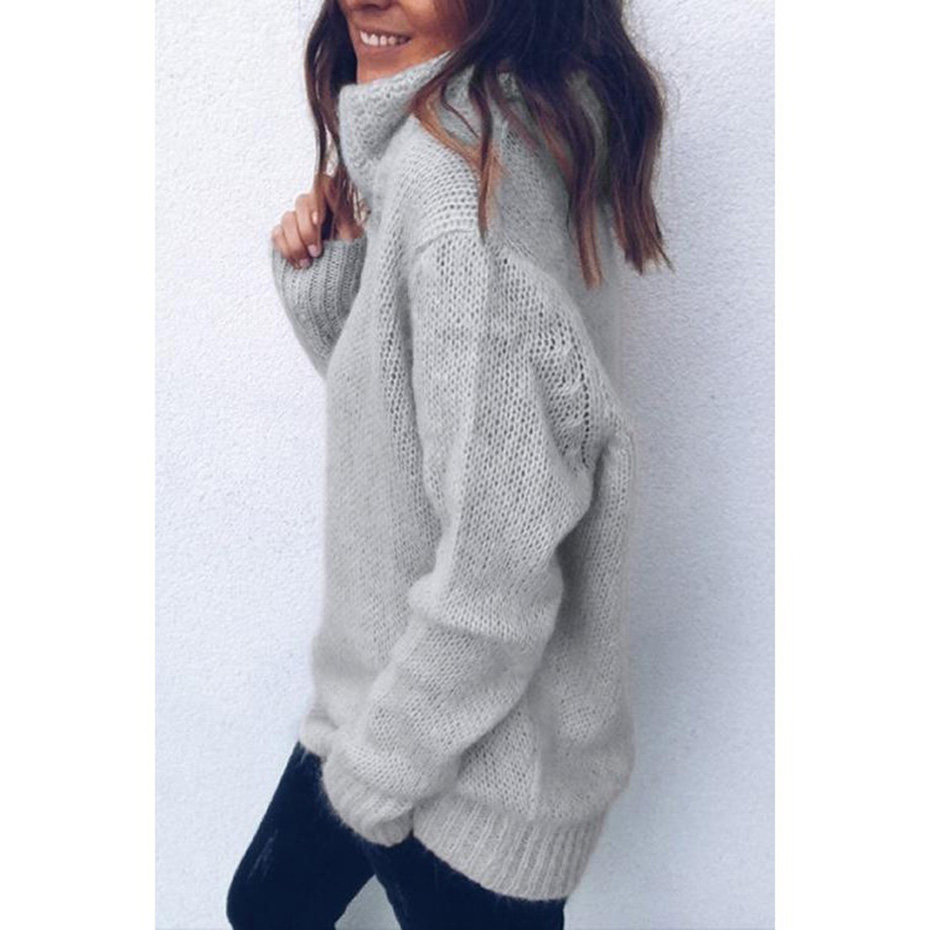 6800c0b9202 Womens Sweaters 2018 Winter Tops Turtleneck Sweater Women Thin Pullover  Jumper Knitted Sweater Pull Femme Hiver Truien Dames New-in Pullovers from  Women's ...