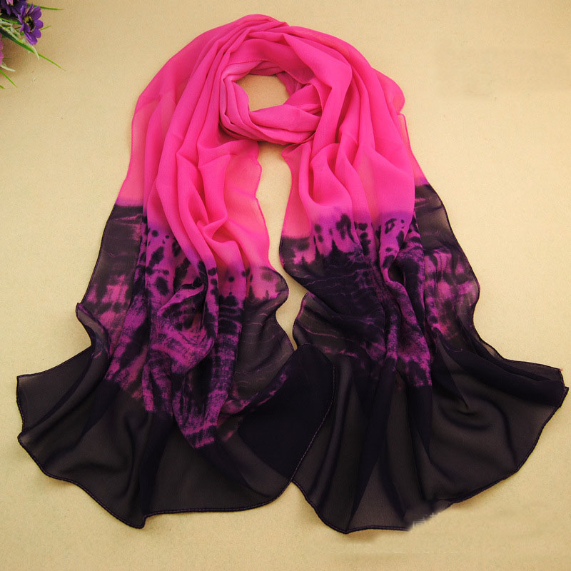 Lady Fashion Chiffon Girls   Scarves   Ponchos Capes Women Silk LIC   Scarf   Popular   Scarves     Wrap   Shawl Luxury Brand Female Pashmina