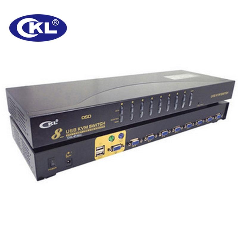 Computer & Büro 8 Port Usb Vga Kvm Switch Mit Kabel 8 In 1 Heraus Pc Monitor Tastatur Maus Switcher Rack Ckl-9138u