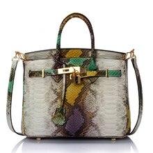 SÉTAIRE et LIS Haut-poignée sacs serpentine grain Platine Sac Véritable Sac À Main En Cuir Vintage Femmes sacs à main Épaule femelle Sacs