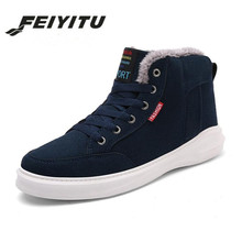 feiyituNew Fashion Men Winter Snow Boots Keep Warm Working Plush Ankle Boot Casual Combat Tactical Dig