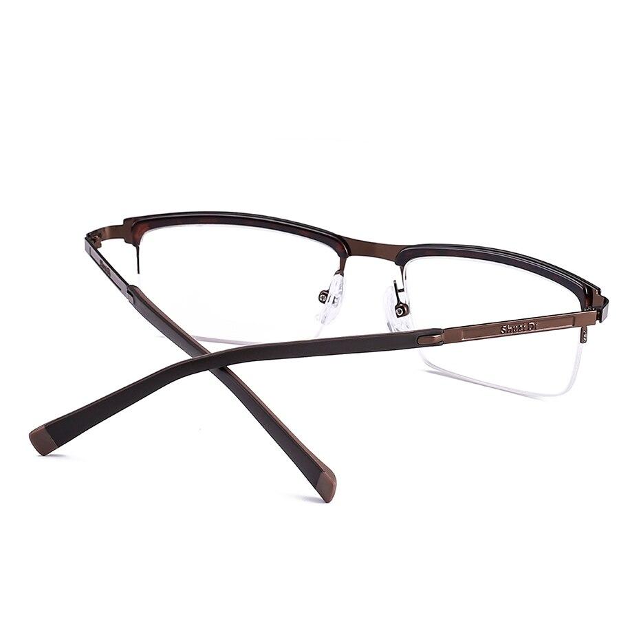 b71e2ae28d Men Brown Half Reading Glasses Stainless Steel Frame Resin Lenses Reading  Glasses Anti Fatigue Presbyopic Eyeglasses-in Reading Glasses from Men s  Clothing ...