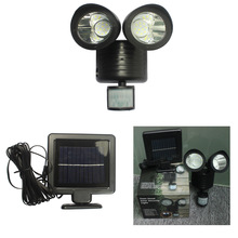 Solar light Household Energy Human Body Induction Double Head Spotlight 22LED Street Light