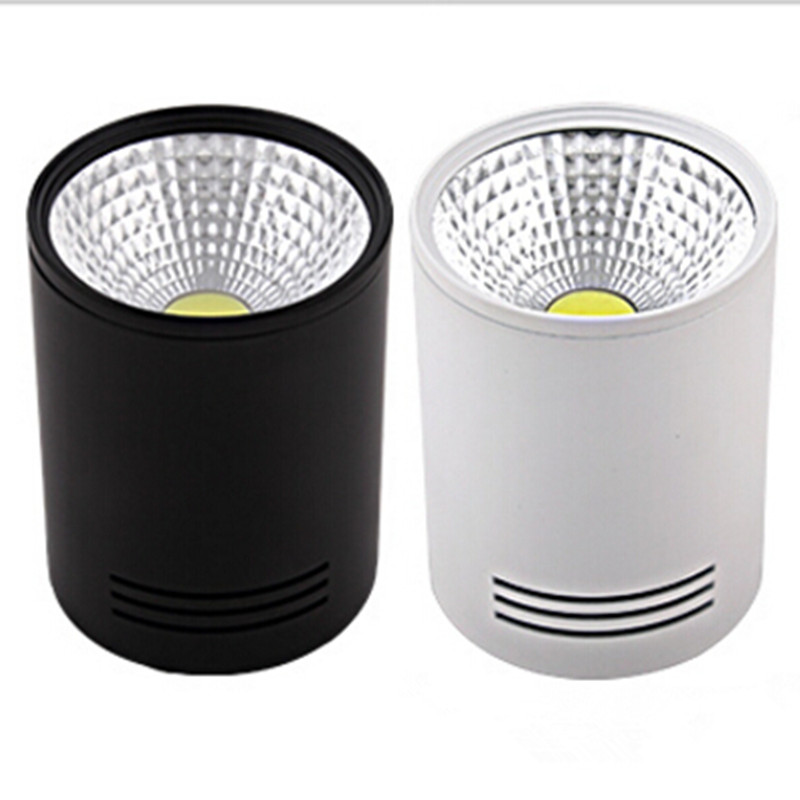 Epistar Lighting 12W Dimmable COB LED Downlight Surface Mount Housing for areas <font><b>can</b></font> not be <font><b>recessed</b></font> led ceiling lamp AC85~265V