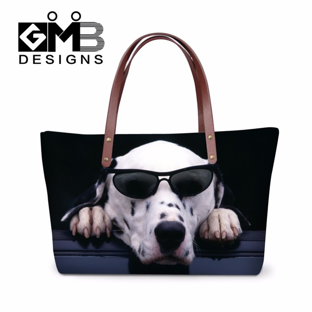 Latest Dog 3d Printed Shoulder Handbags For Girls Stylish Tote Bags