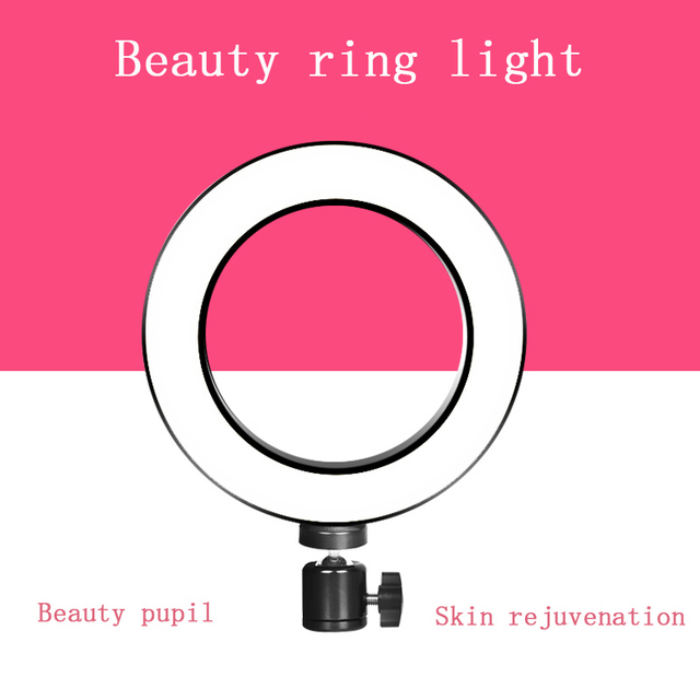 Lightupfoto Photography LED Mini Ring Light With ball head Set for Phone Live Show/Makeup Beauty/Fill-in Lighting Fotografia