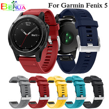 цена Watch band strap For Garmin Forerunner 935 Smart Watch Quick Release Easy fit Silicone Wrist Band Strap for Garmin Fenix 5 5plus онлайн в 2017 году