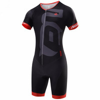 Malciklo High Quality Men Black Jumpsuit Ropa Ciclismo Maillot Cycling Jersey Bike Clothing Triathlon Sport for Running Swimming