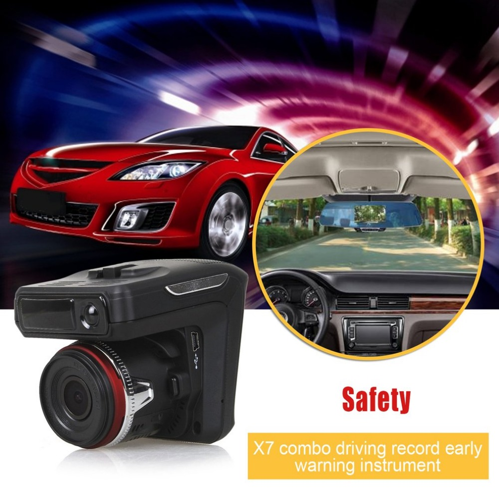New 2.31 Inch 2 in 1 Night Vision Car DVR With Radar Detector + GPS Russian Pre warning Data Recorder 720P Video Recorder