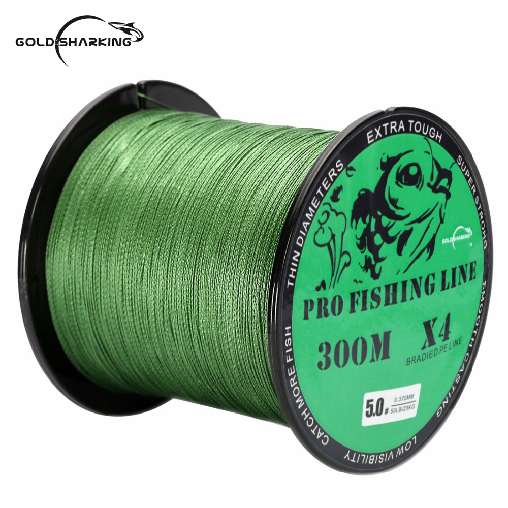 300M Braided PE Fishing Line Super Strong 4 Strands Fish Wire For Sea Fishing Carp Brand Fish Rope Cord Peche