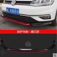 ABS Car Front Bumper Lip Spoiler Diffuser Cover Fit For GOLF MK7.5 GOLF 7.5 TDI 2018 2019 BY EMS