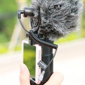 Image 2 - Ulanzi Adaptador de Cable de conexión TRS a TRRS, 3,5mm, para VideoMicro RODE, micrófono Go BY MM1, para iPhone 6 5, teléfono inteligente Android