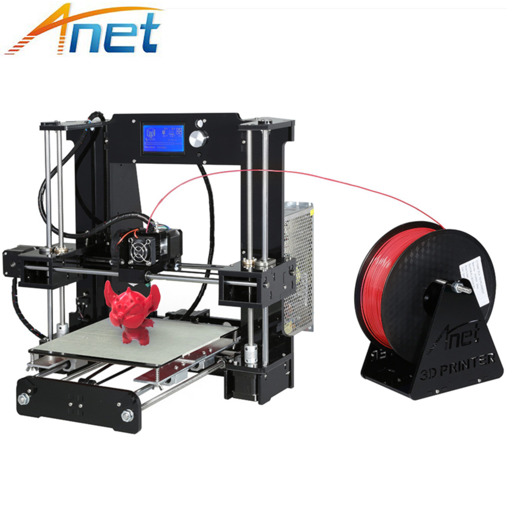 New ! Anet A2 A6 A8 Impresora 3D Printer Kit Easy Assemble Auto Leveling Large Size Reprap i3 with Filament High Quality cheap 2017 new anet easy assemble 3d printer upgrated reprap prusa i3 3d printer large print size kit diy with filament 16gb sd card