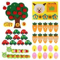 8 видов стилей детей раннего обучения фетр ткань головоломка для детей руками узнать цифровой соответствует номер фетр Craft