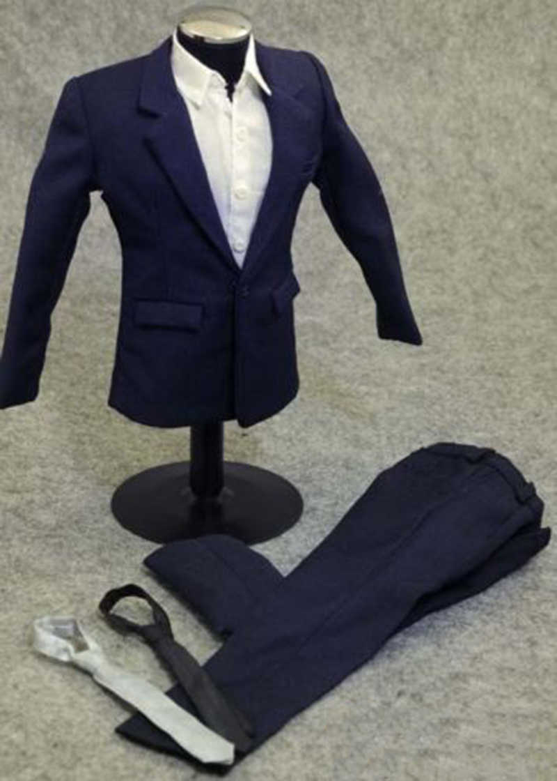 1 6 scale clothes clothing men 39 s boy blue suits male dress fit for 12 quot action figure toys in Action amp Toy Figures from Toys amp Hobbies
