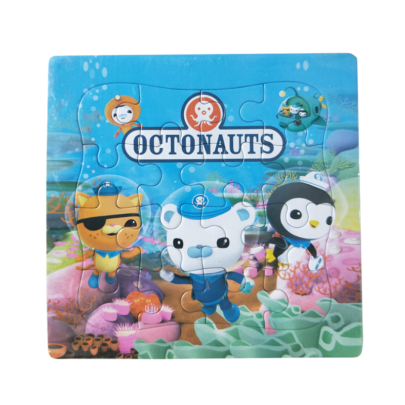 Puzzles Famous Cartoon Octonauts Educational Toy for Children Digital Paper 16PCS Puzzle Game Kid Toys Free Shipping