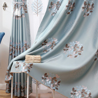 2017 High Light Colored Jacquard Perfect Conjugal Bliss Curtains For Living Dining Room Bedroom