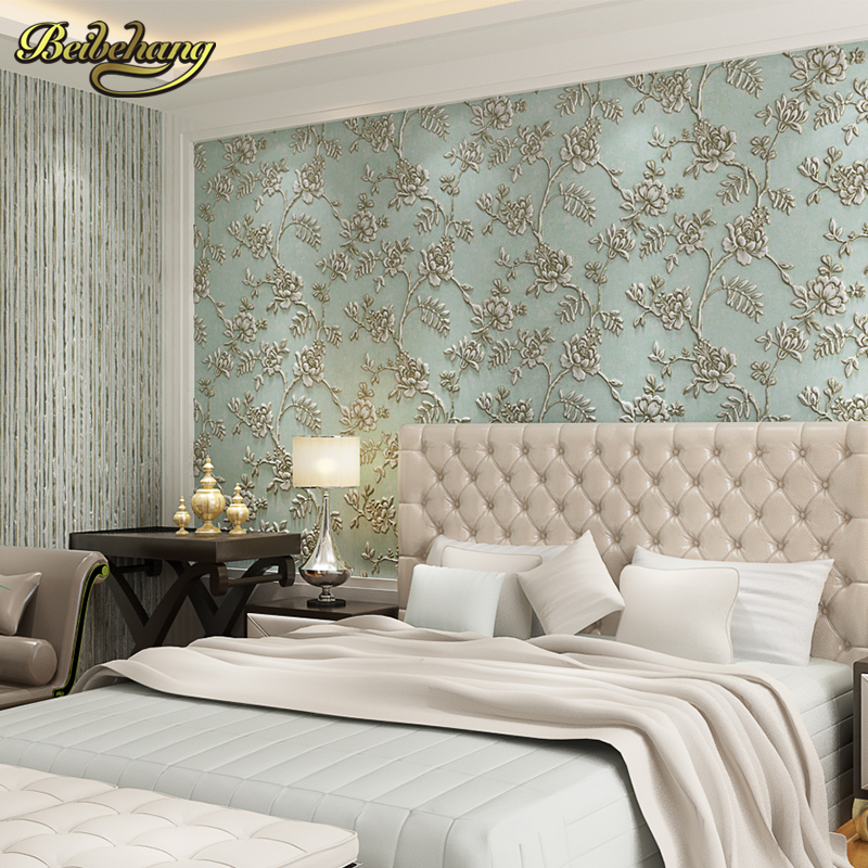 beibehang papel de parede 3D European pastoral relief Wallpaper For Living Room Wall Paper Rolls Home Decor contact-paper roll beibehang papel de parede 3d luxury glitter wallpaper lattice gram wall paper home decor for living room bedroom papel parede