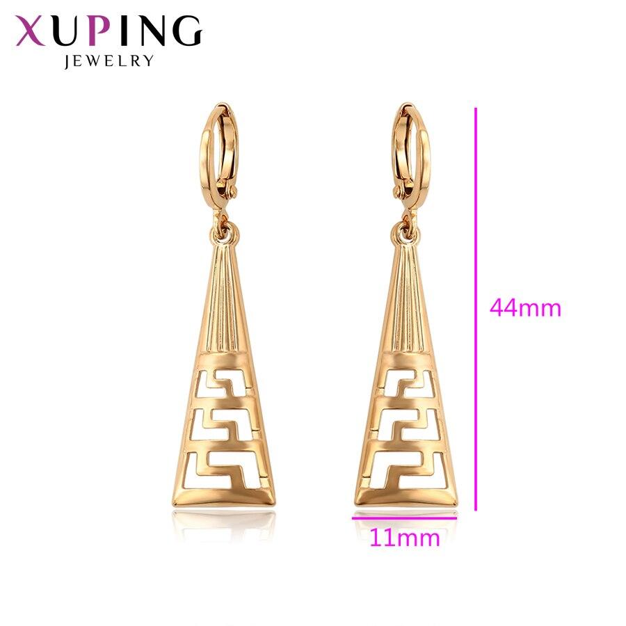 11,11 сделок Xuping элегантный Треугольники Форма Eardrops серьги золото-Цвет для Для женщин украшения подарок на день матери S98.1-97029