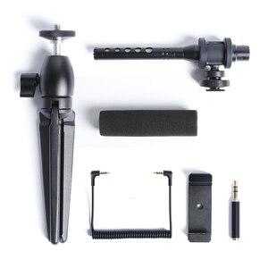 Image 5 - הקבל וידאו הקלטת מיקרופון עבור טלפון Nikon Canon Sony DSLR מצלמה Vlogging ראיון מיקרופון עם חצובה