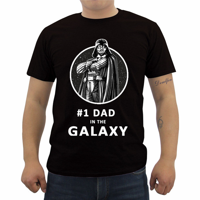 Summer Funny Fashion Printed Men's T Shirt Star Wars Father's Day Darth Vader Best Dad Graphic T-Shirt