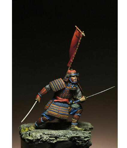 1/24 75MM Ancient Samurai Warrior Man 75MM   Resin Figure Model Kits Miniature Gk Unassembly Unpainted