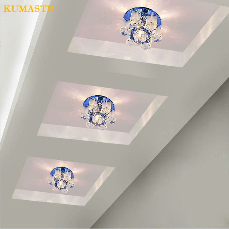 3w Led Crystal Porch Ceiling Lights